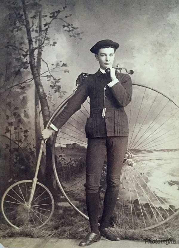 Ha' Penny Farthing Bike. USA 1878