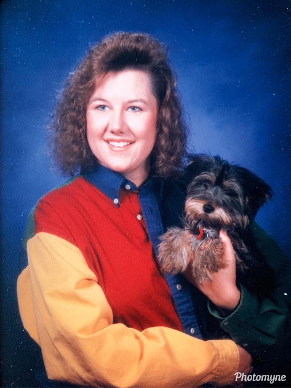Heather's graduation photo. USA 1992