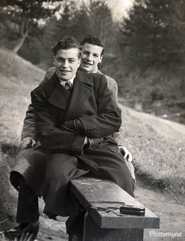 Dad and Reg Beveridge. UK 1951