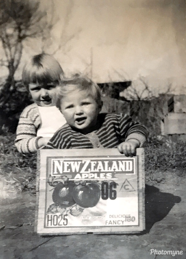 Lenie and Steph as youngsters. New Zealand 1957