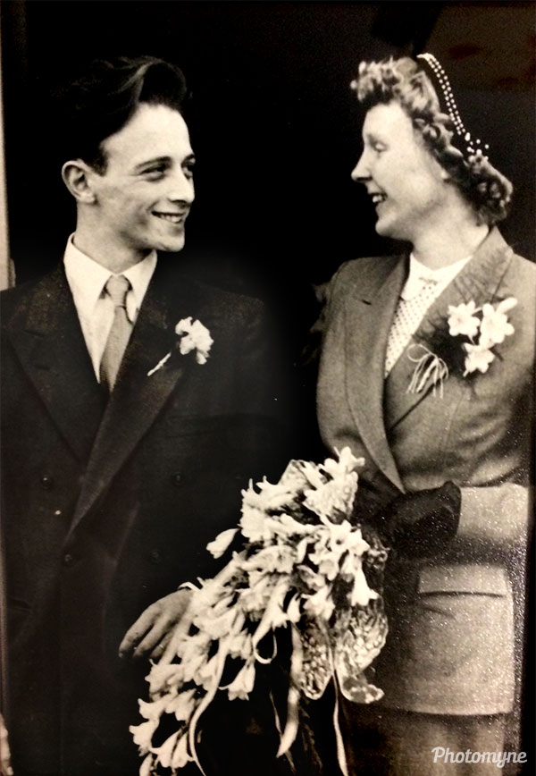 The look of love... Mam and Dad on their wedding day. Netherlands 1952