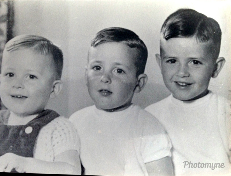 Nearly 60 years ago! My brothers and myself, Breda, Netherlands, 1957