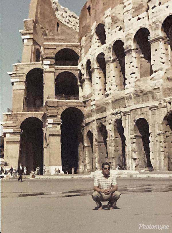 Grandpa in Rome. Italy 1970
