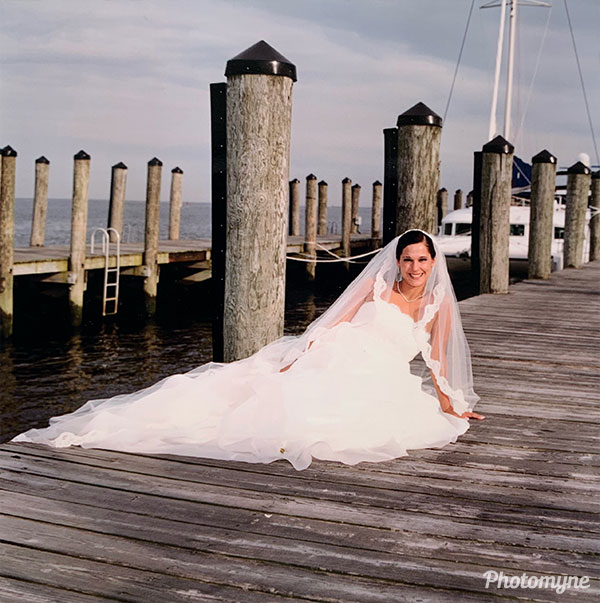 My niece Lee Roy on her wedding day to Anthony DeFelice. USA (year unknown)