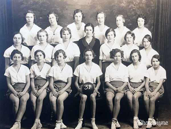 Volleyball team. South School. USA 1931