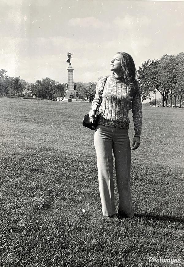 Best friend Bissera at McGill - Architecture. Montreal, CA 1970