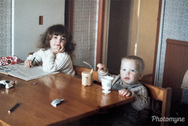 Aaron and George. UK, 1984