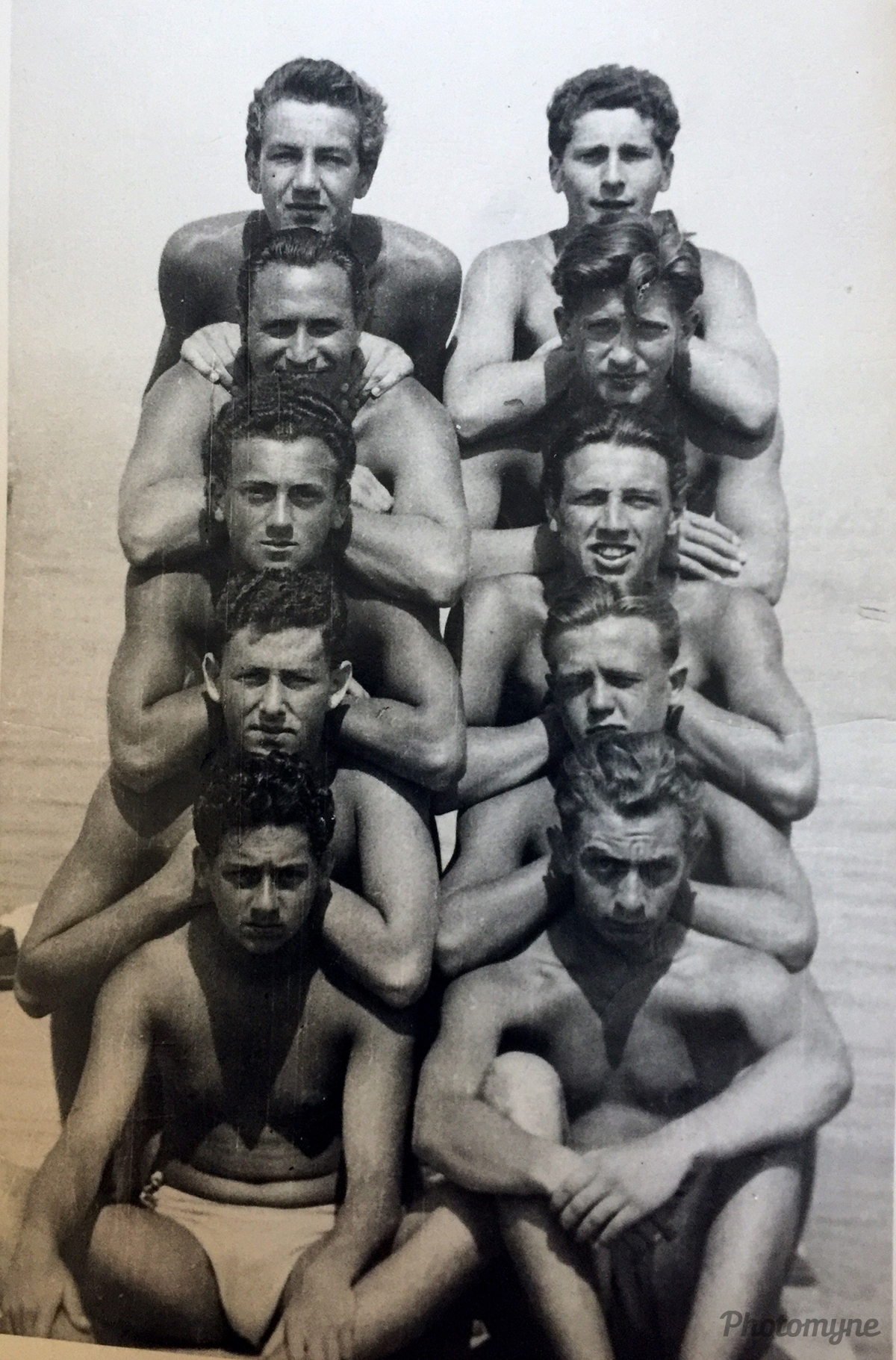 MTK Training camp. Lake Balaton, Hungary 1951