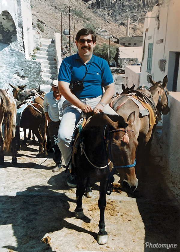 That poor donkey... Santorini, Greece 1990