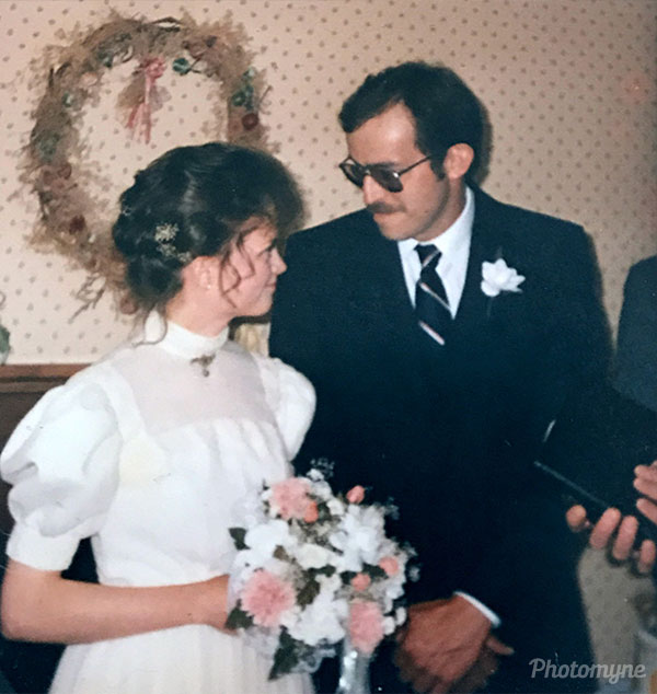 Darrel and Heather McAndrew Wedding Day. Canada 1987