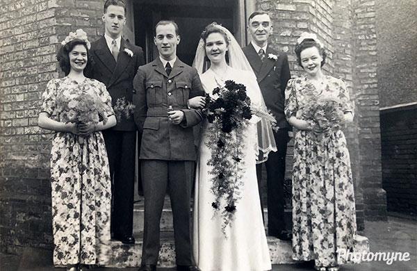 Albert and Phillis Ellis wedding. UK 1944