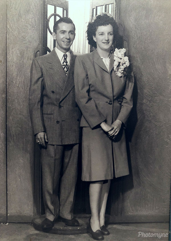 Mom and Dad's wedding day. IL, USA 1947
