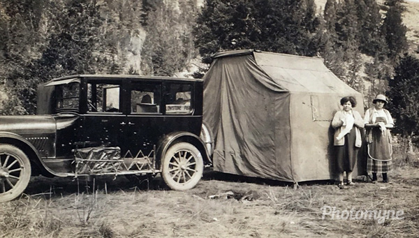 My great grand mother was really ahead of her time. She took the family camping in Yellowstone during the summer of 1924, Yellowstone National Park, Wyoming, USA