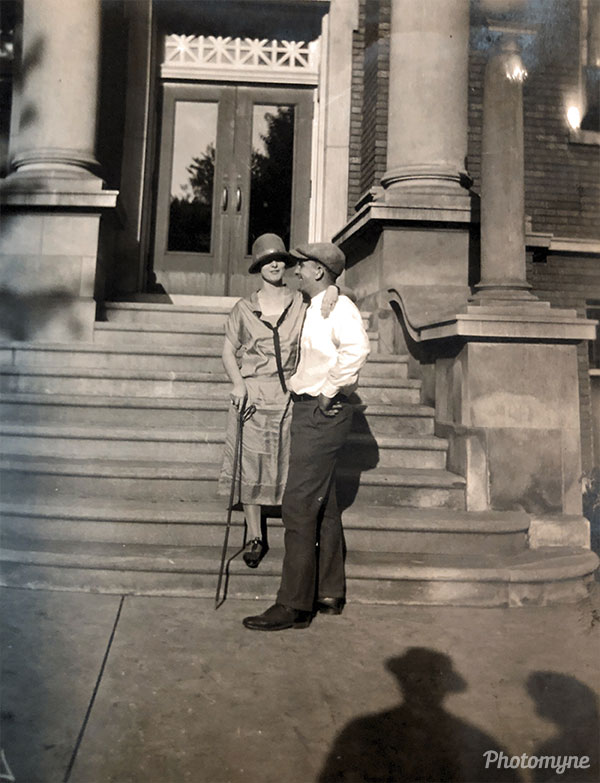 Possible Wedding of George and Aimee Padgett. USA 1924