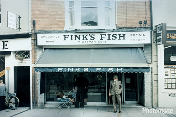 Fink's Fish, Tiverton. Devon, UK 1976