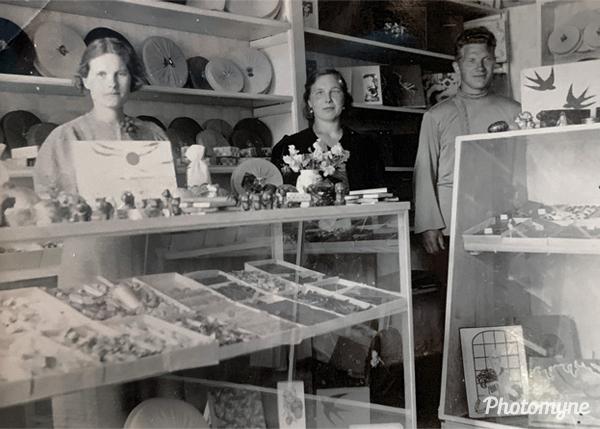 Glassmanns chocolate shop. Estonia 1925