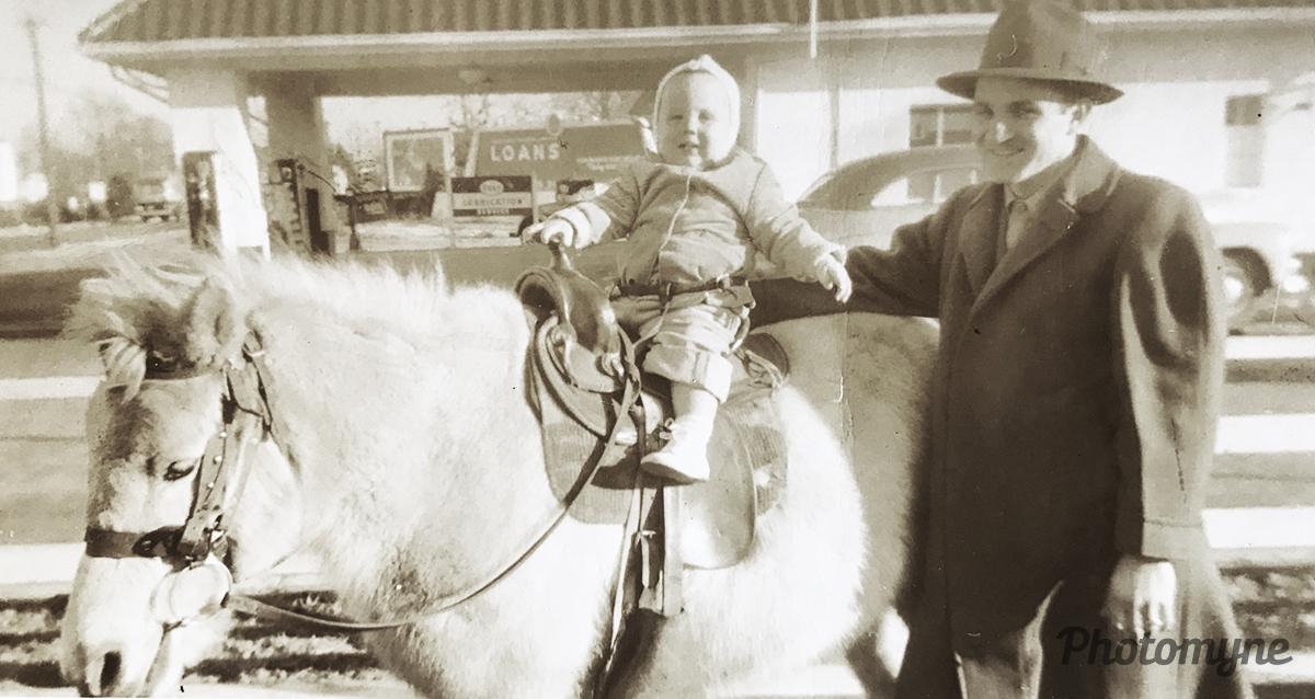 My pony ride. Richmond VA, USA 1948