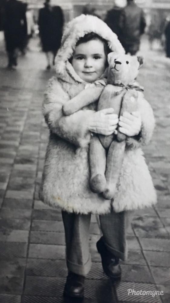 Ma belle-mère Françoise, Grenoble, France, 1947