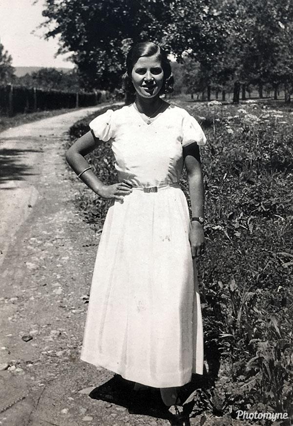 Meine Mutter (my mother). Switzerland 1935