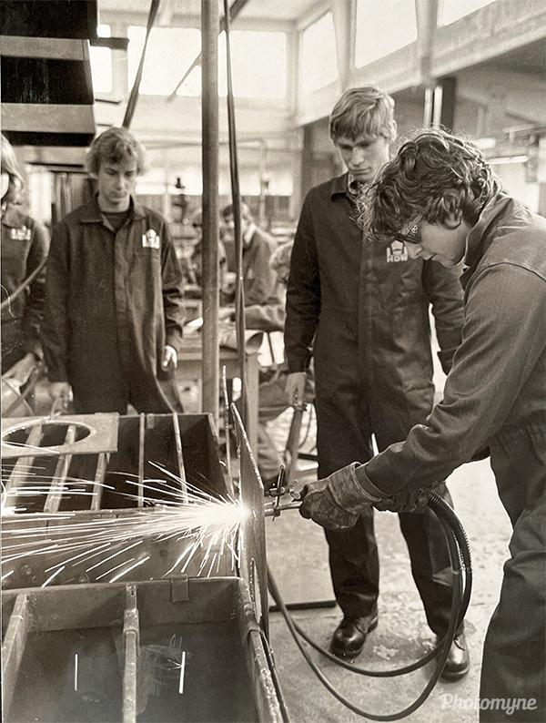 Praktikum im Marinearsenal (Internship in the naval armory). Germany 1982