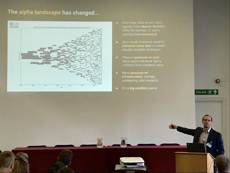 Peter Hafez talking at The BigData Finance Conference in London