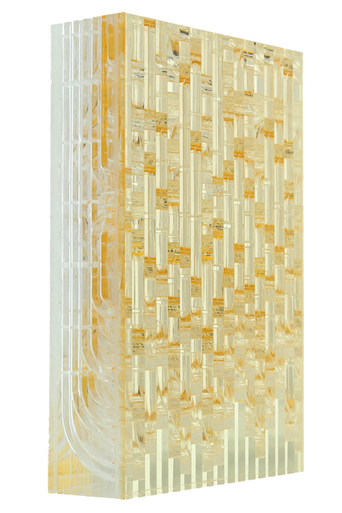 <b>Gold (far left)</b>: Scintilla 1-1/4'' thick; 1/4'' grain; yellow 2700-clear-clear
