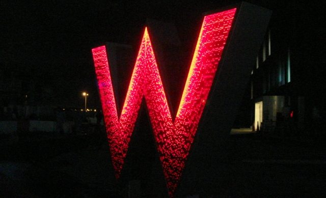 W Hotel Sign, Doha 1