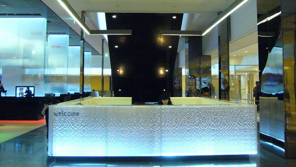 Samsung D'Light Brand Showcase, Reception Desk 1