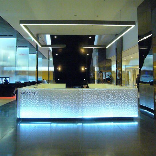 Samsung D'Light Brand Showcase, Reception Desk