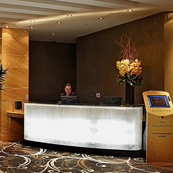 Sky City Casino, New Zealand: Reception Desk