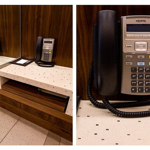 Aria Hotel and Convention Center: Telephone Stands