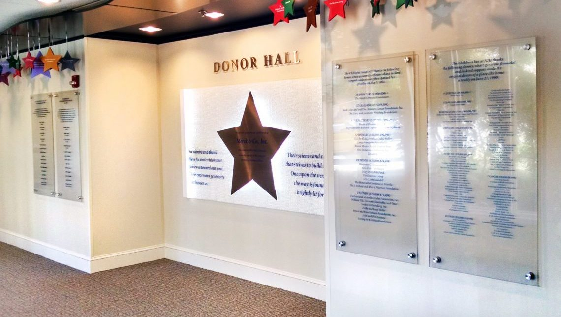 National Institutes of Health (NIH): Donor Wall 1