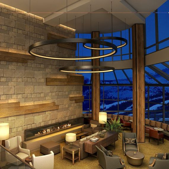 Westin Snowmass: Ring Light Fixtures