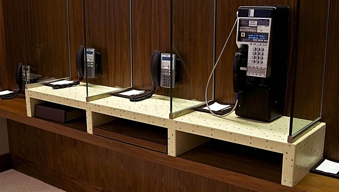 Aria Hotel and Convention Center: Telephone Stands 2