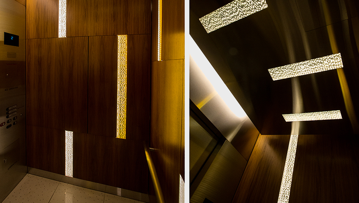 Aria Hotel and Convention Center: Elevator Cabs 1