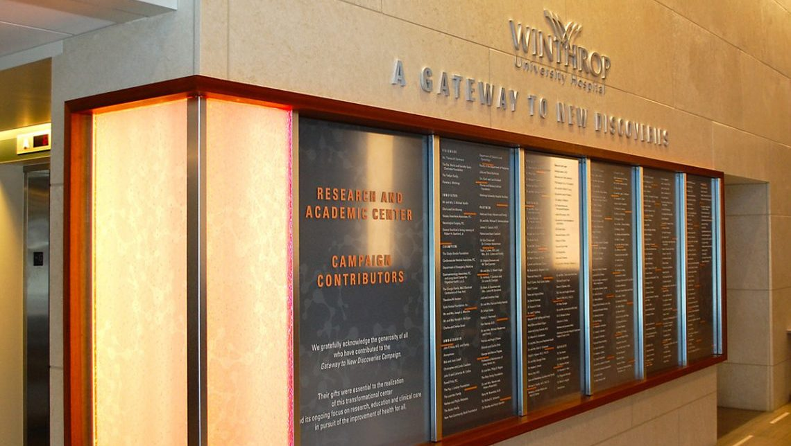 Winthrop Donor Wall 0