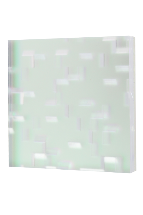 Ripple 5/8'' thick; 3/8'' grain; 1/4'' core; frosted-clear-zari dusk-clear mirror