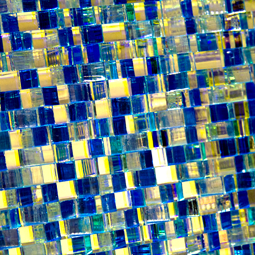 Jali Cascata: Zari-Blue Mirror #1