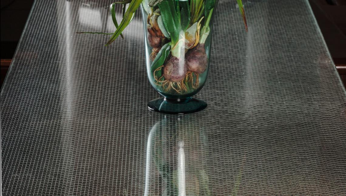 Jali Swarm: Low-Iron Glass Tabletop 0