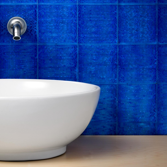 Blue Scintilla Vanity Backsplash