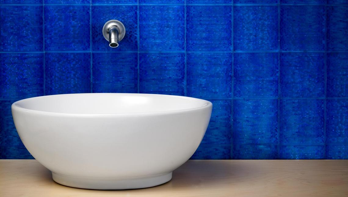 Blue Scintilla Vanity Backsplash 0