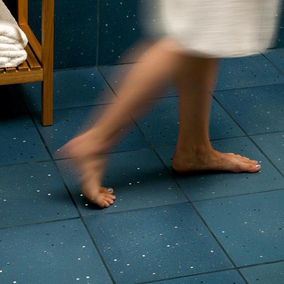 Sensitile Terrazzo Blue Tile Floor