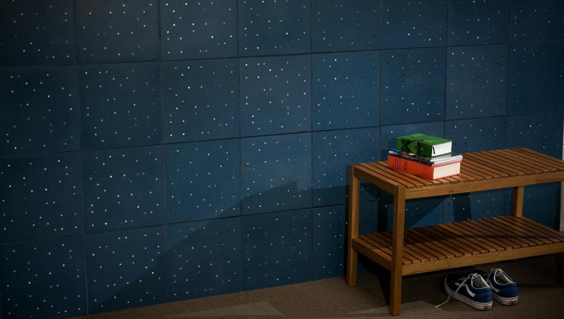 Sensitile Terrazzo Blue Tile Wall 1