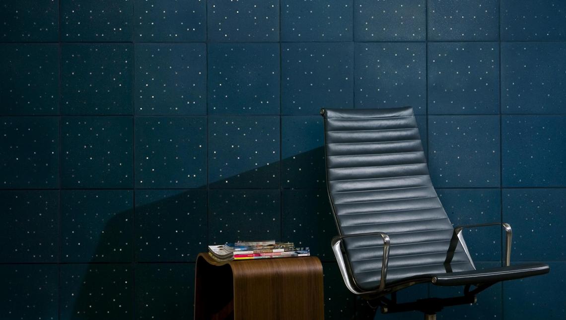 Sensitile Terrazzo Blue Tile Wall 0