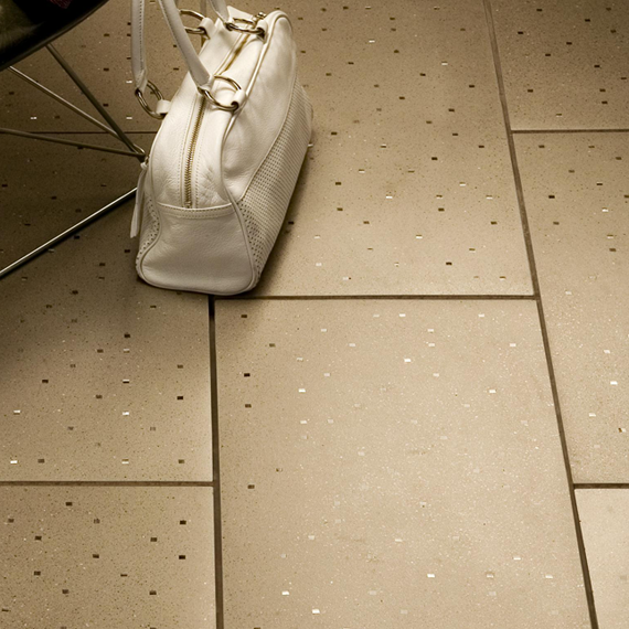 Sensitile Terrazzo Tile Floor -Curry