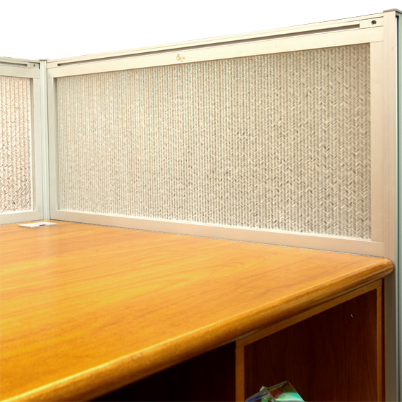 Jali Maize Office Desk Modesty Panels
