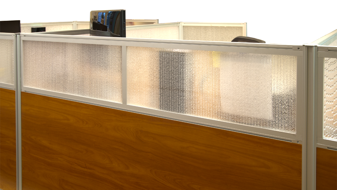 Jali Maize Office Desk Modesty Panels 2