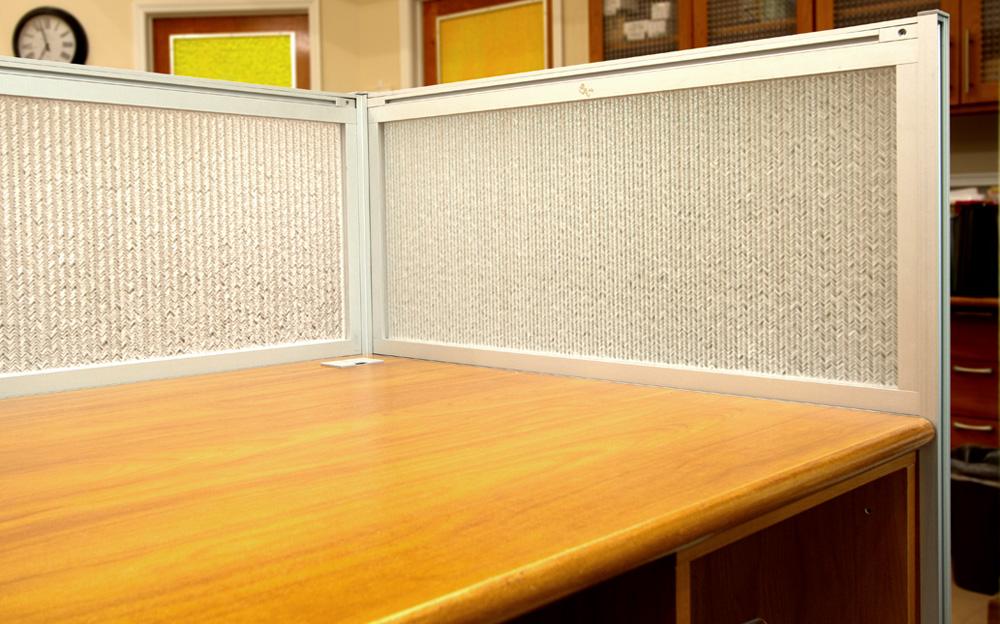 Jali Maize Office Desk Modesty Panels 3
