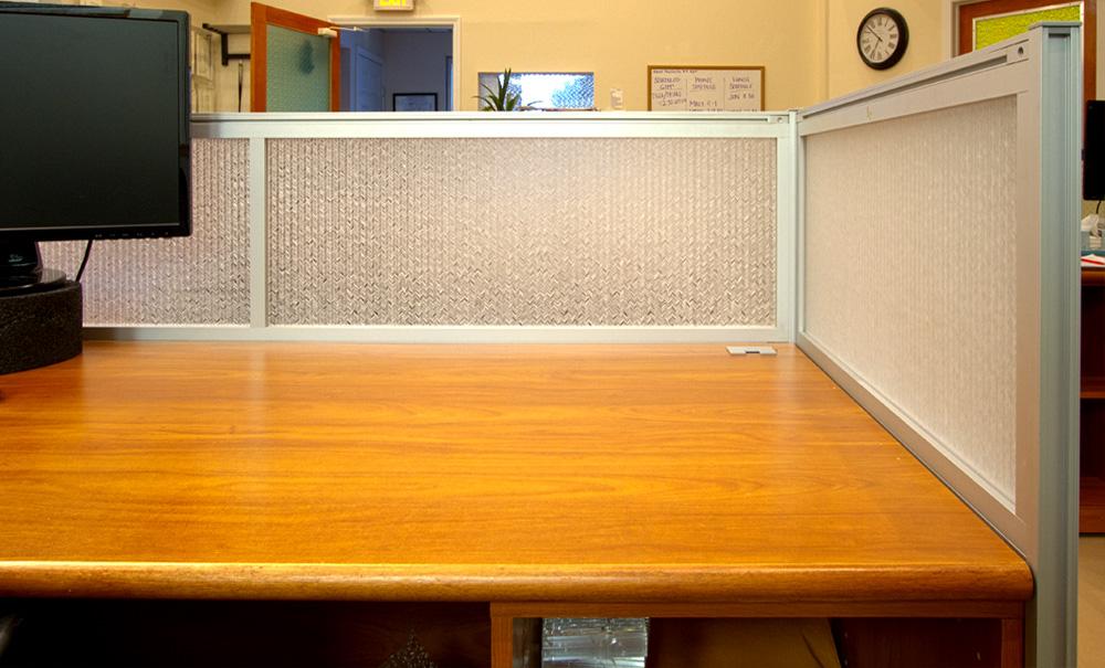 Jali Maize Office Desk Modesty Panels 2
