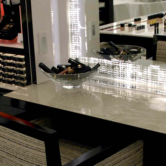 Chanel at Saks Fifth Avenue Scintilla Table